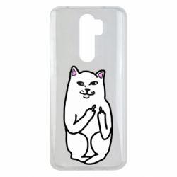 Чехол для Xiaomi Redmi Note 8 Pro Кот с факом