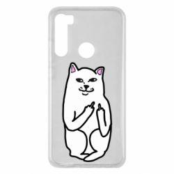 Чехол для Xiaomi Redmi Note 8 Кот с факом