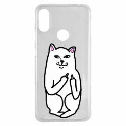 Чехол для Xiaomi Redmi Note 7 Кот с факом