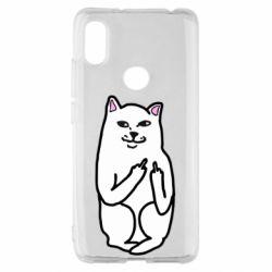 Чехол для Xiaomi Redmi S2 Кот с факом