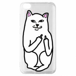 Чехол для Xiaomi Redmi Go Кот с факом