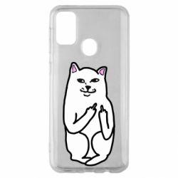 Чехол для Samsung M30s Кот с факом