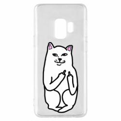 Чехол для Samsung S9 Кот с факом