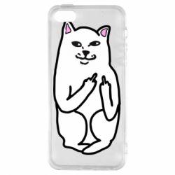 Чехол для iPhone5/5S/SE Кот с факом