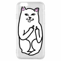 Чехол для iPhone 6/6S Кот с факом