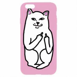 Чехол для iPhone 6 Plus/6S Plus Кот с факом
