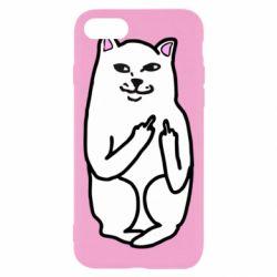 Чехол для iPhone 7 Кот с факом