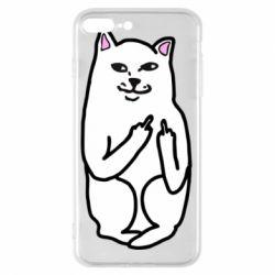 Чехол для iPhone 7 Plus Кот с факом
