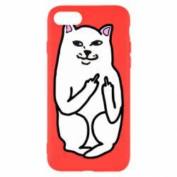 Чехол для iPhone 8 Кот с факом