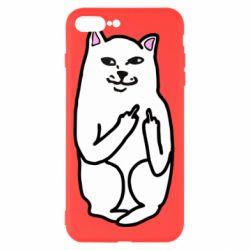 Чехол для iPhone 8 Plus Кот с факом