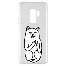 Чехол для Samsung S9+ Кот с факом