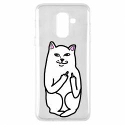 Чехол для Samsung A6+ 2018 Кот с факом