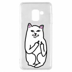 Чехол для Samsung A8 2018 Кот с факом