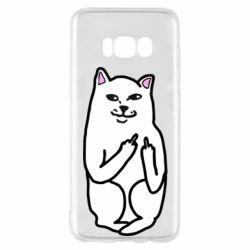 Чехол для Samsung S8 Кот с факом