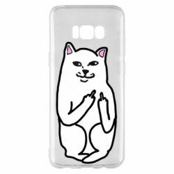 Чехол для Samsung S8+ Кот с факом