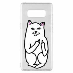 Чехол для Samsung Note 8 Кот с факом