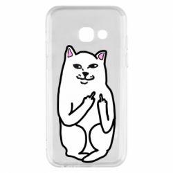 Чехол для Samsung A3 2017 Кот с факом