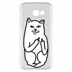 Чехол для Samsung A5 2017 Кот с факом