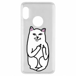 Чехол для Xiaomi Redmi Note 5 Кот с факом