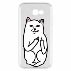 Чехол для Samsung A7 2017 Кот с факом