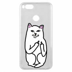 Чехол для Xiaomi Mi A1 Кот с факом