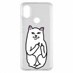 Чехол для Xiaomi Mi A2 Кот с факом