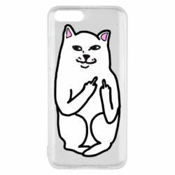 Чехол для Xiaomi Mi6 Кот с факом