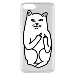Чехол для Xiaomi Mi Note 3 Кот с факом