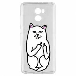 Чехол для Xiaomi Redmi 4 Кот с факом