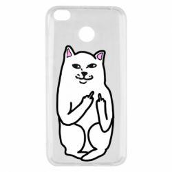 Чехол для Xiaomi Redmi 4x Кот с факом
