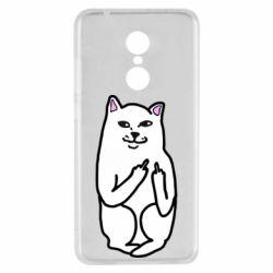 Чехол для Xiaomi Redmi 5 Кот с факом