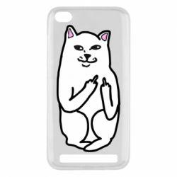 Чехол для Xiaomi Redmi 5a Кот с факом