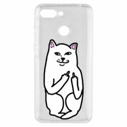 Чехол для Xiaomi Redmi 6 Кот с факом