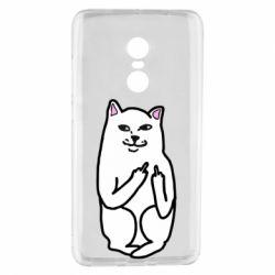 Чехол для Xiaomi Redmi Note 4 Кот с факом