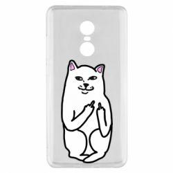 Чехол для Xiaomi Redmi Note 4x Кот с факом