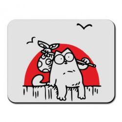 Купить Коврик для мыши Кот Саймона на фоне заката, FatLine