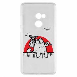 Чехол для Xiaomi Mi Mix 2 Кот Саймона на фоне заката
