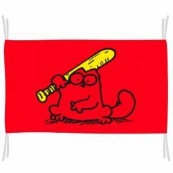 Прапор Кот Саймона с битой