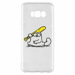 Чохол для Samsung S8 Кот Саймона с битой