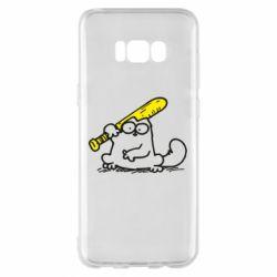 Чохол для Samsung S8+ Кот Саймона с битой