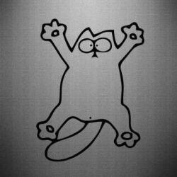 Наклейка Кіт-зірка