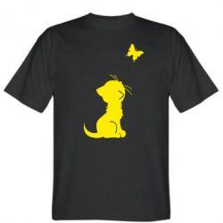 Мужская футболка котик і метелик - FatLine