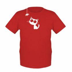 Детская футболка Котик и паук - FatLine