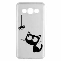 Чехол для Samsung A3 2015 Котик и паук