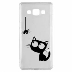 Чехол для Samsung A5 2015 Котик и паук