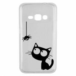 Чехол для Samsung J1 2016 Котик и паук