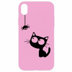 Чохол для iPhone XR Котик і павук