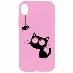 Чехол для iPhone XR Котик и паук