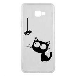 Чехол для Samsung J4 Plus 2018 Котик и паук