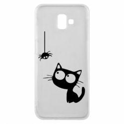 Чехол для Samsung J6 Plus 2018 Котик и паук